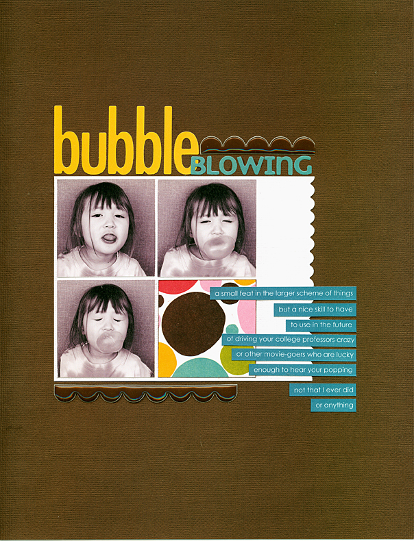 Blowing-bubbles